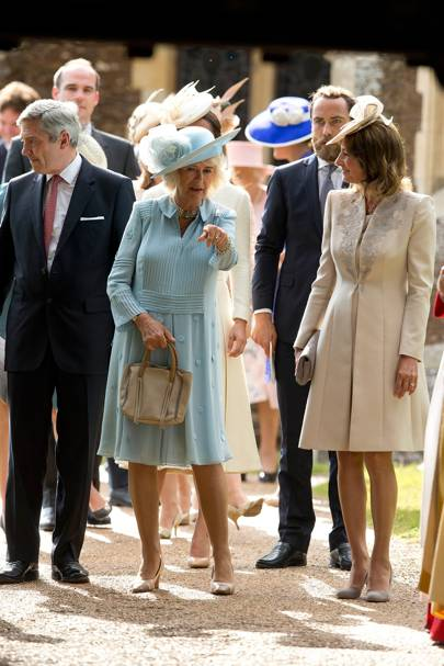 Michael Middleton, The Duchess of Cornwall, James Middleton and Carole Middleton