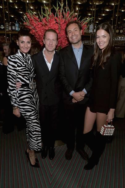 Giovanna Battaglia Engelbert, Oscar Engelbert, Pietro Quaglia and Renata Zandonadi