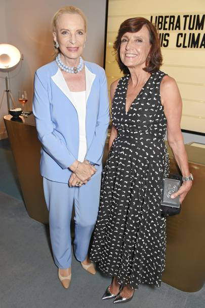 Princess Michael of Kent and Frances Reynolds Marinho