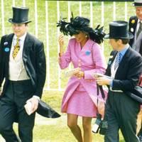 Anthony Stroud, Mrs Hubie de Burgh and Hubie de Burgh