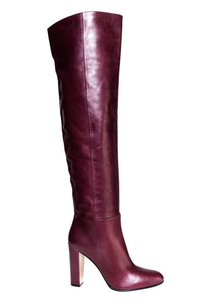 Leather boots, £1,130, by Gianvito Rossi