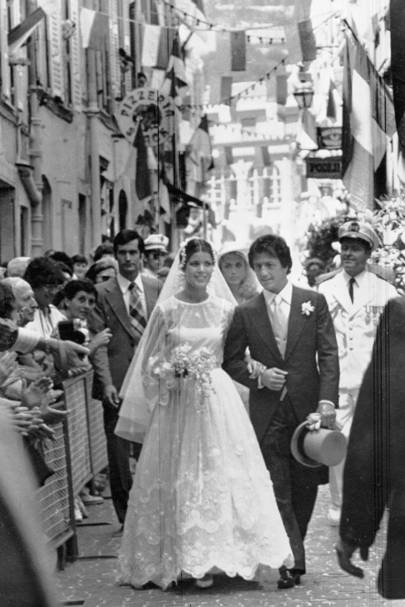 The wedding of Princess Caroline of Monaco and Philippe Junot, 1978