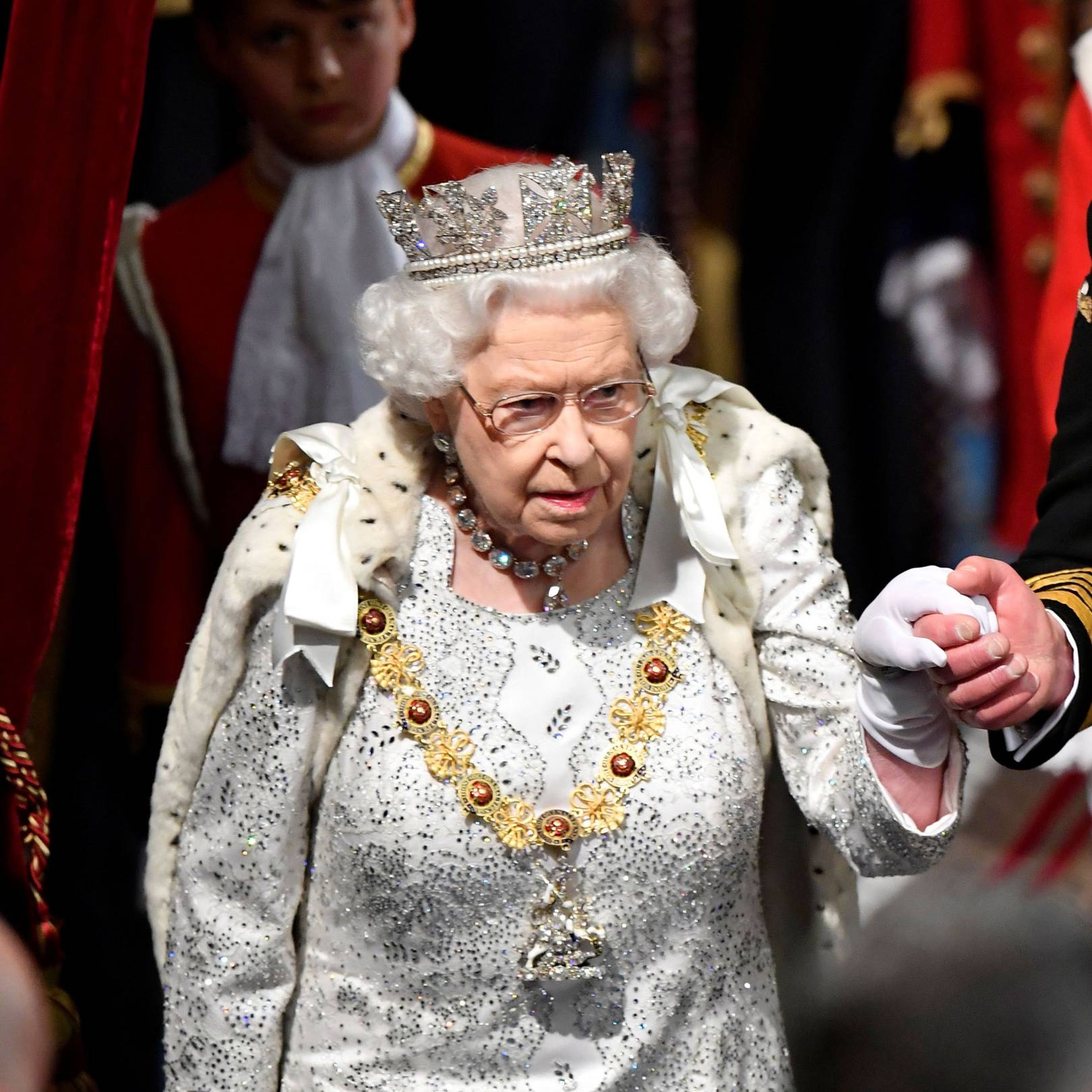 Why the Queen eschewed tradition by wearing the George IV diadem to open Parliament