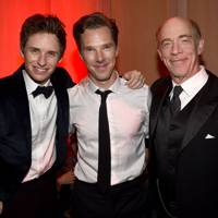 Eddie Redmayne, Benedict Cumberbatch and J.K. Simmons