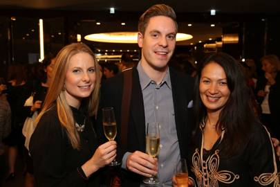 Sam West, Chris O and Corinna Yap