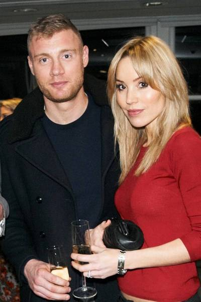 Andrew Flintoff and Rachael Flintoff