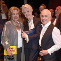 Anne Reid, Dame Angela Lansbury and Wayne Sleep