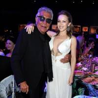 Roberto Cavalli and Kylie Minogue