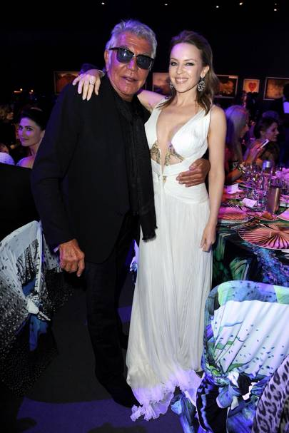 Roberto Cavalli and Kylie Minogue