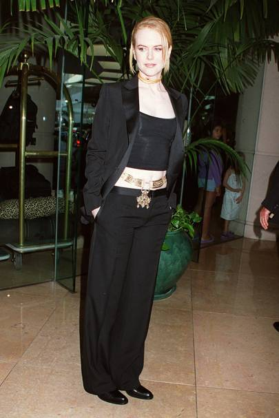 At the Hollywood Film Festival gala, 2001