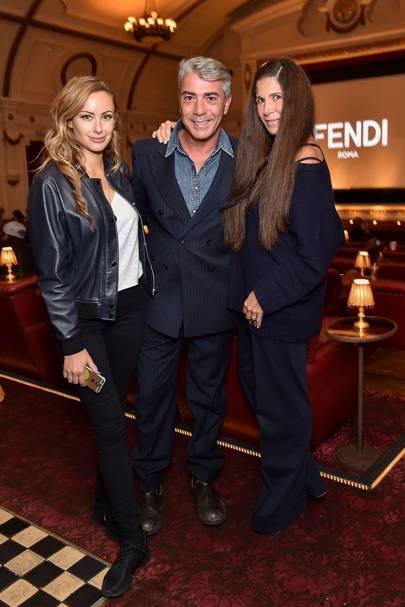 Camilla Al Fayed, Antonio Monfreda and Elizabeth Saltzman