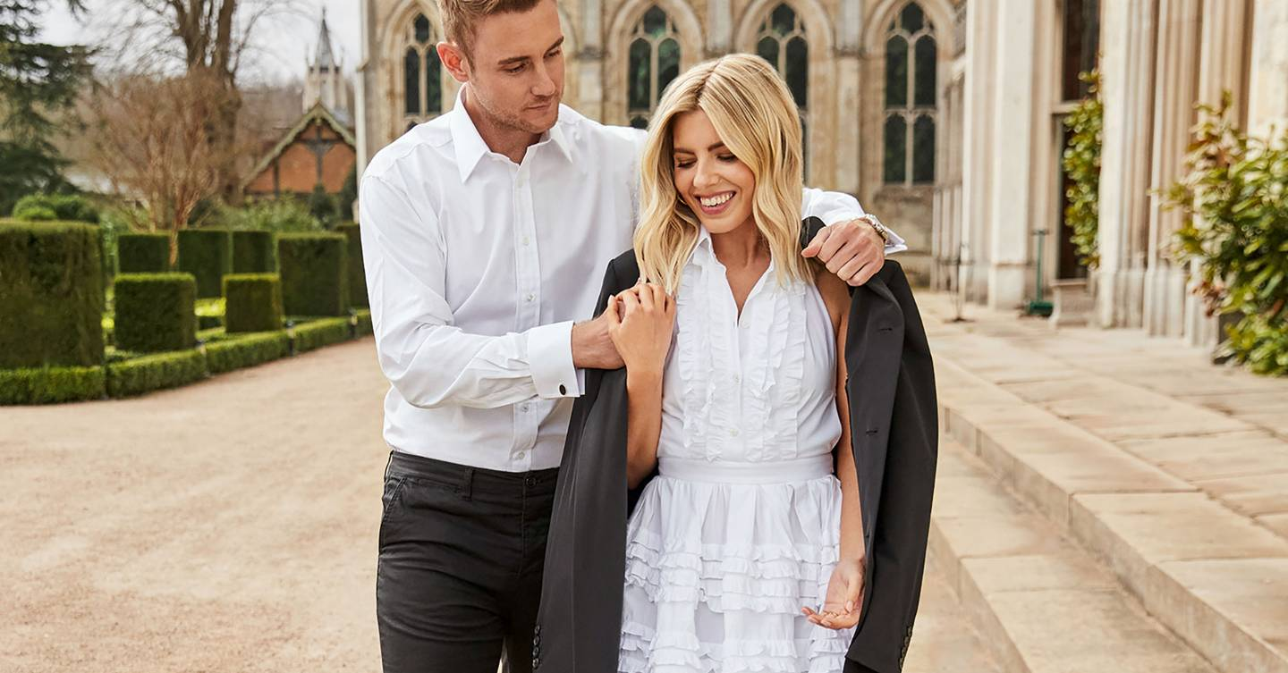 Exclusive: Stuart Broad is bowled over by new fiancée Mollie King in their first ever shoot and interview
