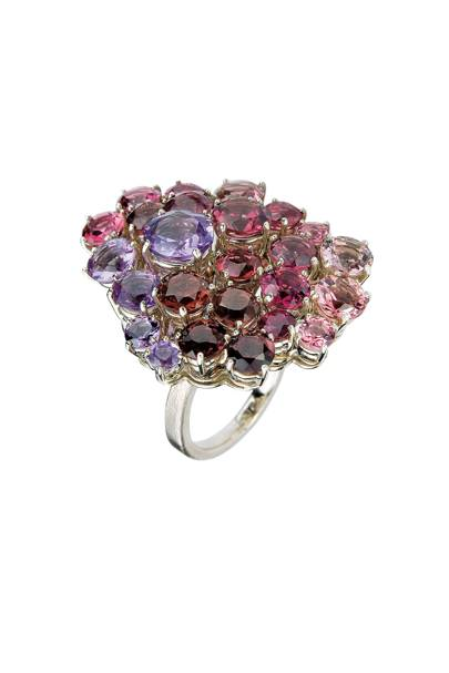 White-gold, amethyst & rubellite ring, £7,000, by H Stern