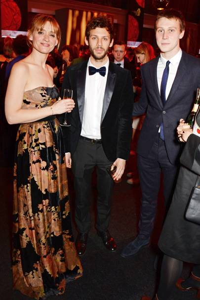 Anne-Marie Duff, Chris Overton and George Mackay