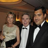 Lord and Lady Lloyd-Webber and Sheikh Fahad Al Thani