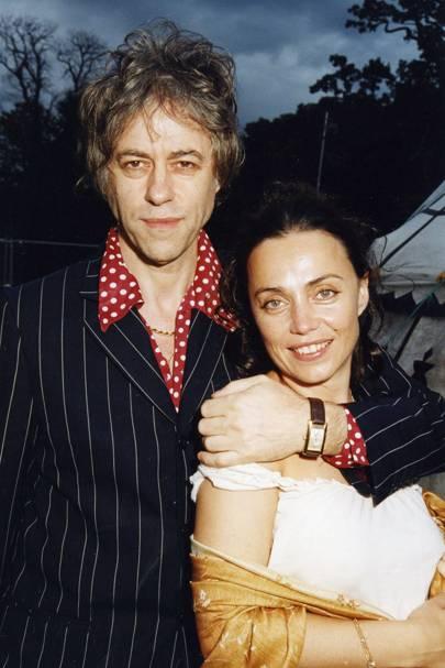 Bob Geldof and Jeanne Marinne