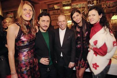 Anna Dello Russo, Marco de Vincenzo, Jonathan Newhouse,  Giovanna Battaglia and Katie Grand