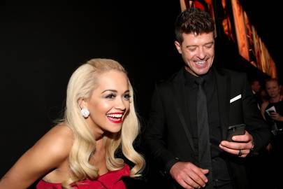 Rita Ora and Robin Thicke