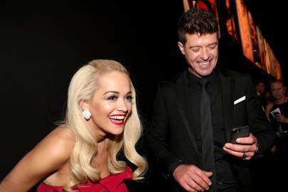 Rita Ora and Robin Thicke