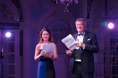 Justine Waddell and Stephen Fry