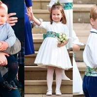 Prince George, Princess Charlotte and Prince Louis of Cambridge