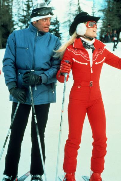 Sir Roger Moore and Lynn-Holly Johnson