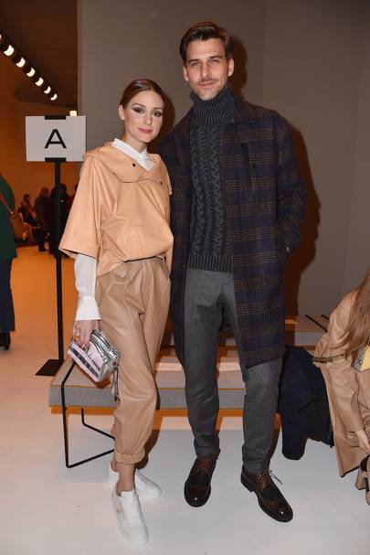 Olivia Palermo and Johannes Huebl at Tods A/W18