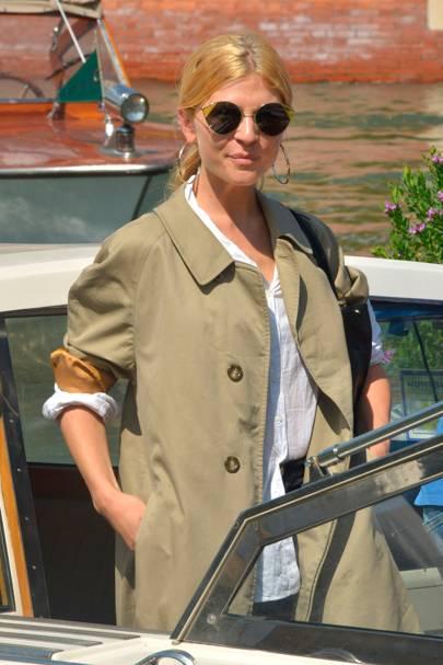 Clémence Poésy arriving at Venice Film Festival
