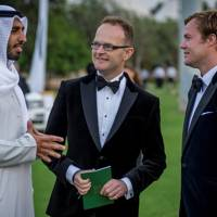 Sheikh Shakhboot bin Nahyan al Nahyan, Dominic Jermey and Ed Olver