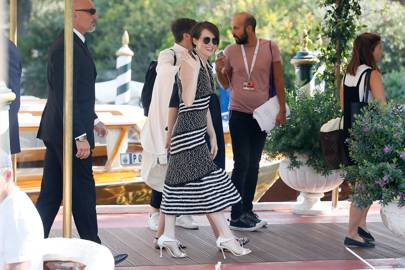 Claire Foy arriving at Venice Film Festival