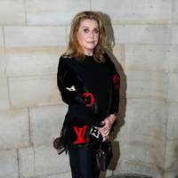 Catherine Deneuve at the Louis Vuitton show.