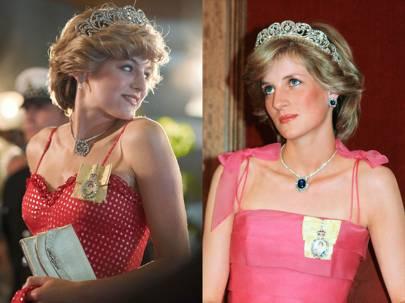 Emma Corrin como la princesa Diana