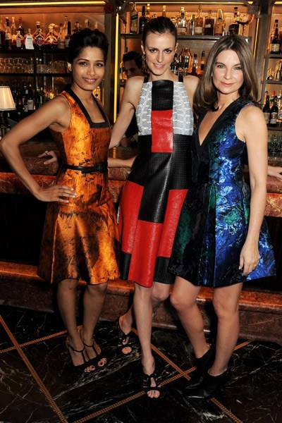 Freida Pinto, Jacquetta Wheeler and Natalie Massenet