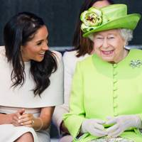 Meghan's first solo public engagement with the Queen