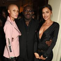 Adwoa Aboah, Edward Enninful and Irina Shayk