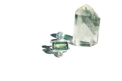 Green Tourmaline Ring by Amber KRS