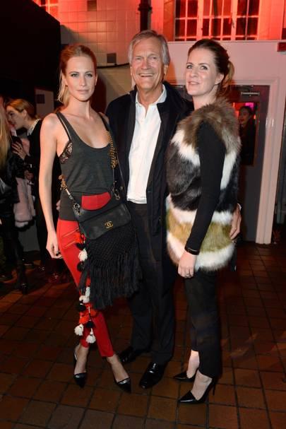 Poppy Delevingne, Charles Delevingne and Chloe Delevingne