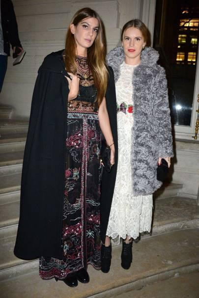 Bianca Brandolini D'Adda and Eugenie Niarchos