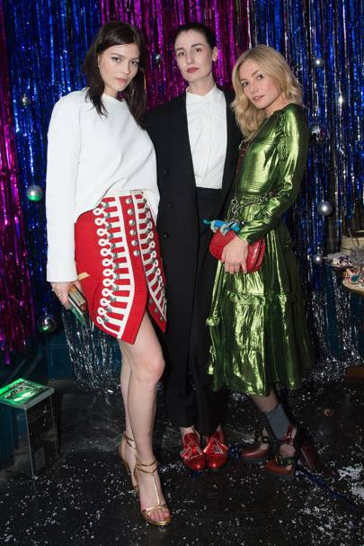 Amber Anderson, Erin O'Connor and Clara Paget