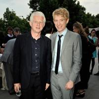 Richard Curtis and Domhnall Gleeson