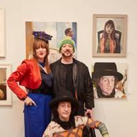 Clare Macaulay, Boy George and Philip Sallon