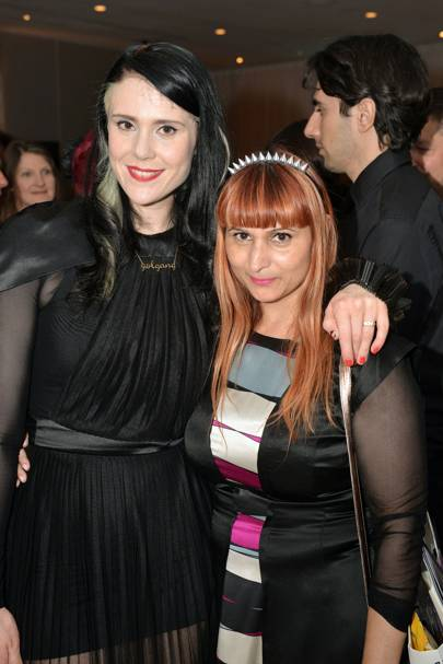 Kate Nash and Rebekah Roy