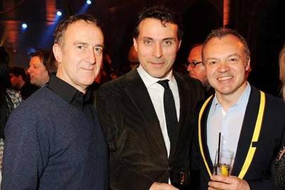 Angus Deyton, Rufus Sewell and Graham Norton
