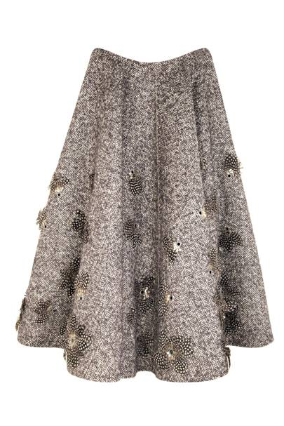 Embroidered herringbone skirt, £4,800, by Michael Kors
