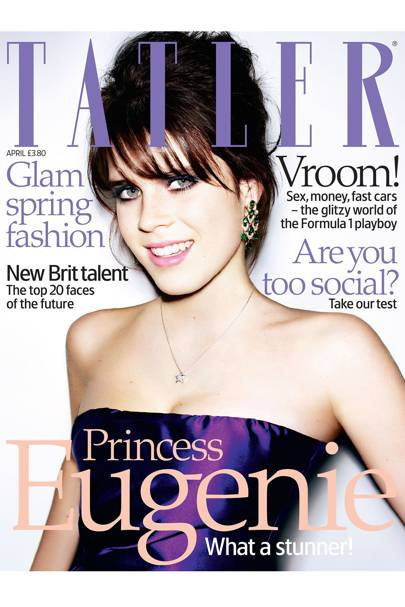 On the cover of Tatler, April 2008