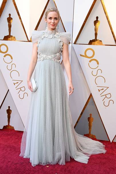 Emily Blunt wearing Schiaparelli Couture in 2018