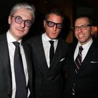 Andrea Tessitore, Lapo Elkann and Jonathan Newhouse