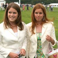 Princess Eugenie, aged 14, and Princess Beatrice, aged 16 at the Cartier International Polo in 2004