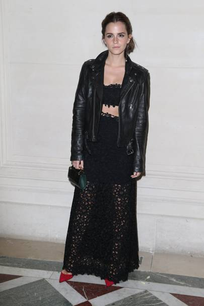 Emma Watson in BLK DNM