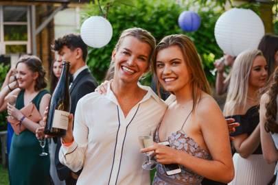 Viscountess Hinchingbrooke and Emma Montagu